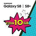 Samsung Galaxy S8|S8+ con CREAMI WOW 10GB