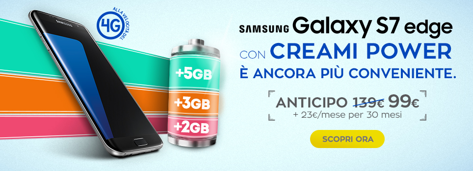 Promo Samsung Galaxy S7 con Creami Power