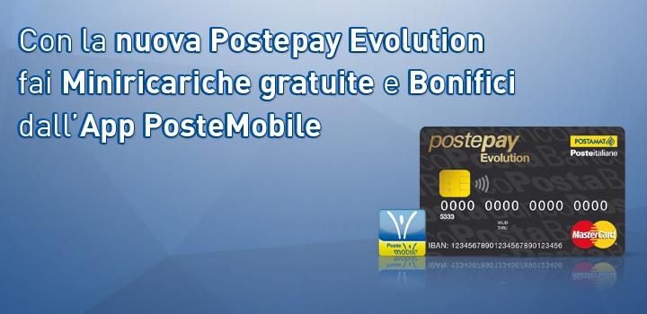 Carta Postepay Evolution Servizi online